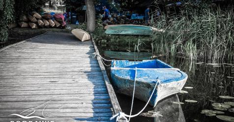 Nowa Korytnica pomost na polu biwakowym