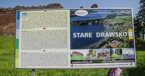 Tablica promocyjna Stare Drawsko przy zamku Drahim